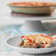 Mushroom and Red Pepper Quiche