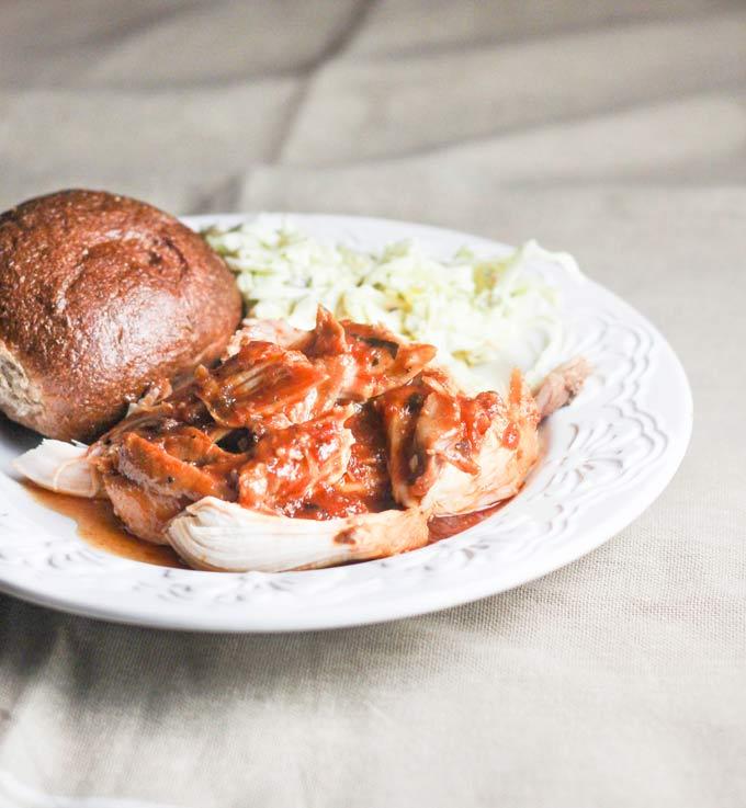 Slow Cooker Honey Garlic Basil BBQ Chicken