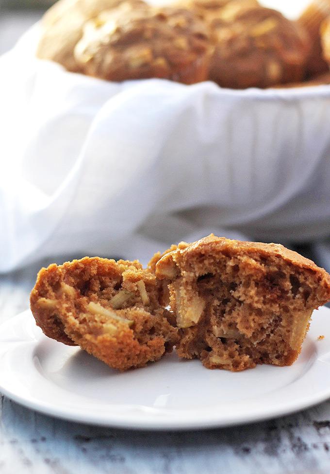 Healthier Apple Muffins