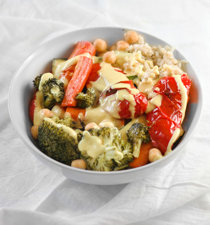 Roasted Vegetable Rice Bowls