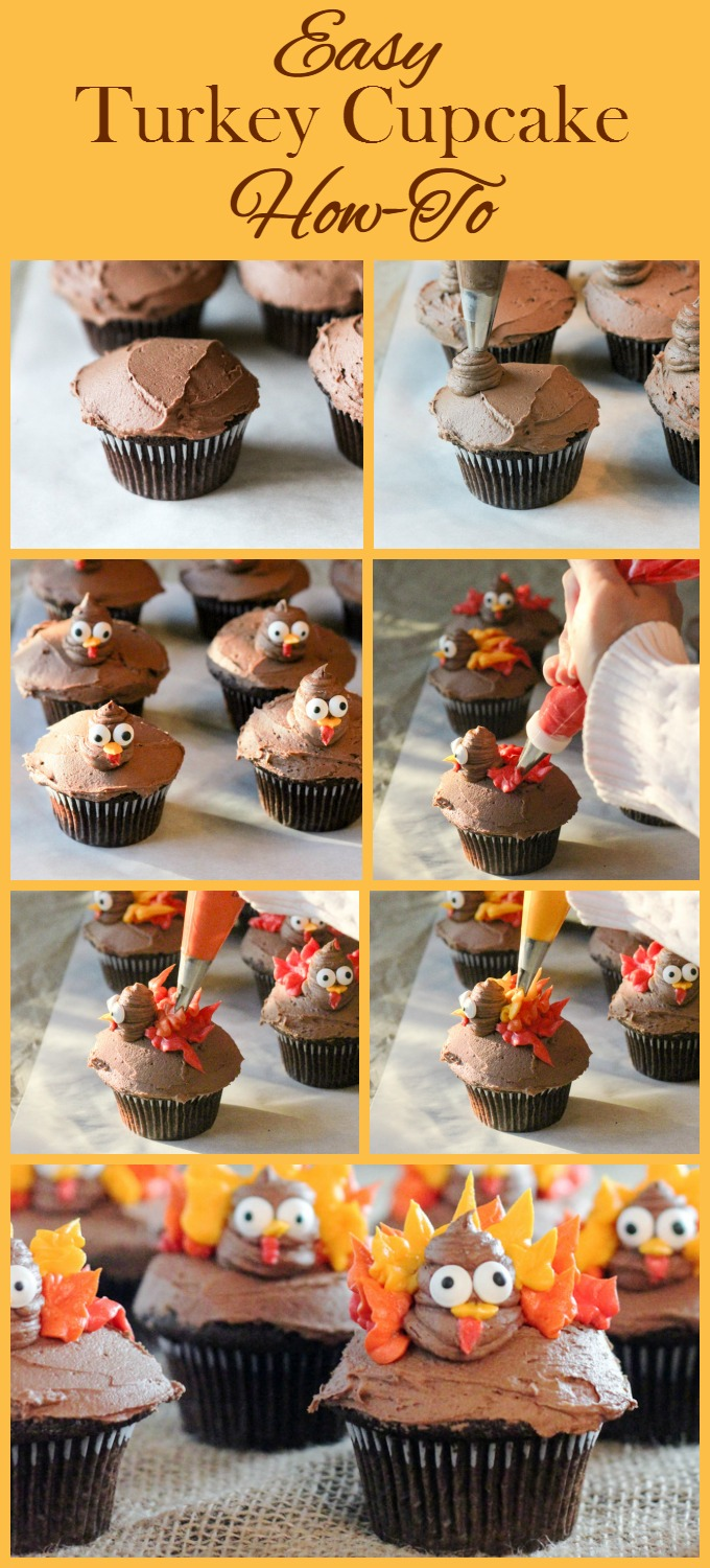 Easy Turkey Cupcake How-To