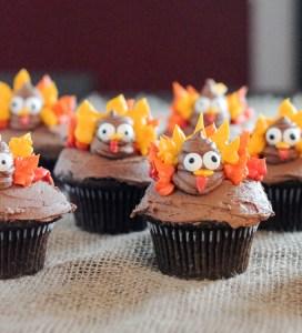 Easy Turkey Cupcakes