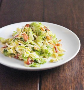 Wilted Brussels Sprout Salad