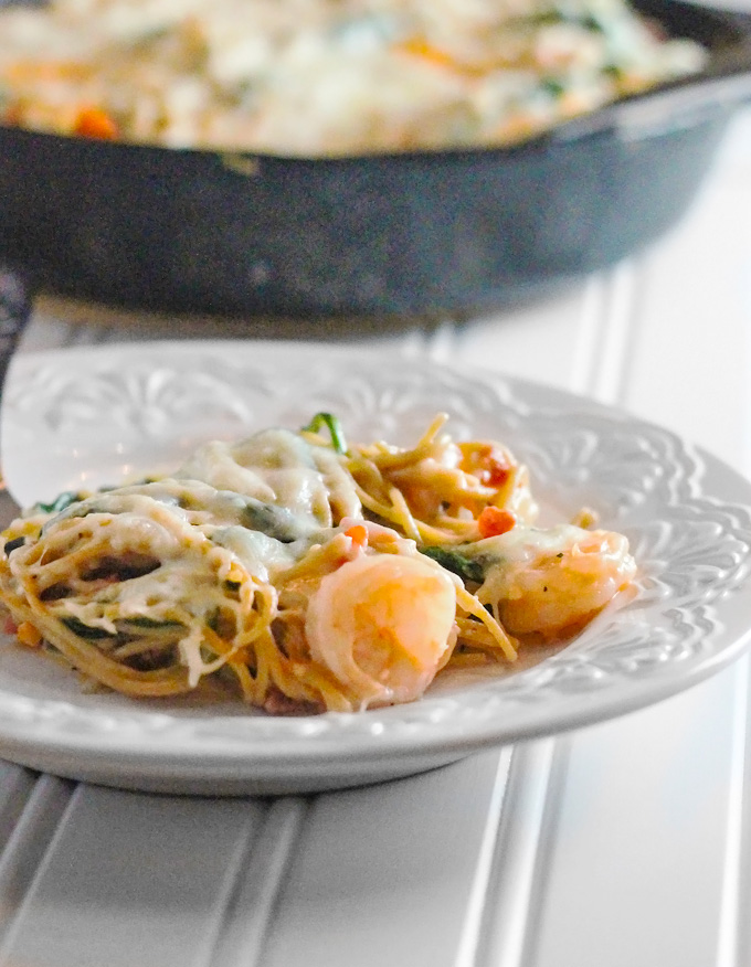 Shrimp and Cheese Pasta