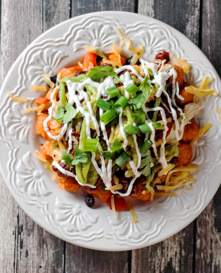 Loaded Sweet Potato Totchos