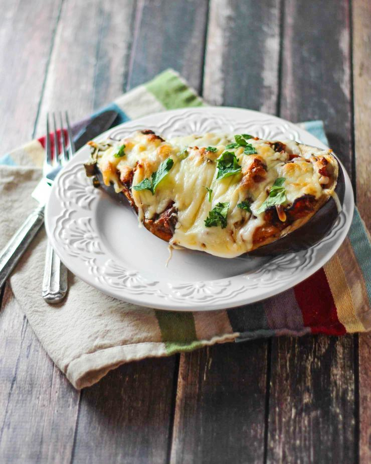 Pizza Stuffed Eggplant