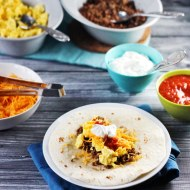 Breakfast Burritos for Man Food Mondays