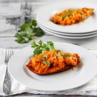 Chipotle Ham Stuffed Sweet Potatoes