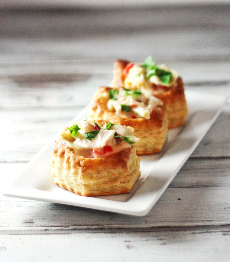 Hot Chicken Salad in Puff Pastry