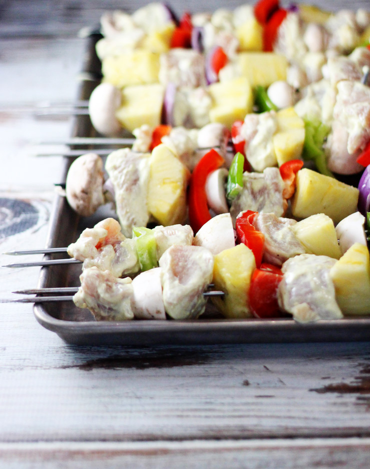 Curried Chicken Kabobs