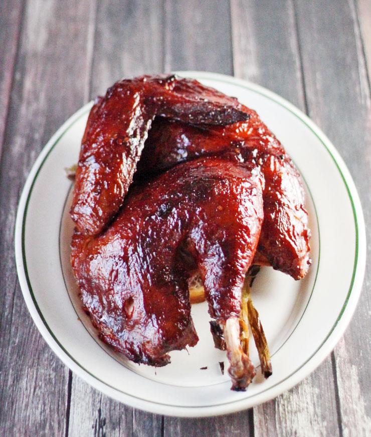 Smoked Cherry and Apple Wood BBQ Turkey