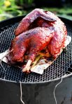 Smoked Cherry and Apple Wood BBQ Turkey for Man Food Mondays