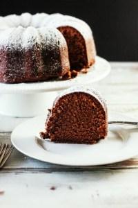Chocolate Pound Cake on the Smoker