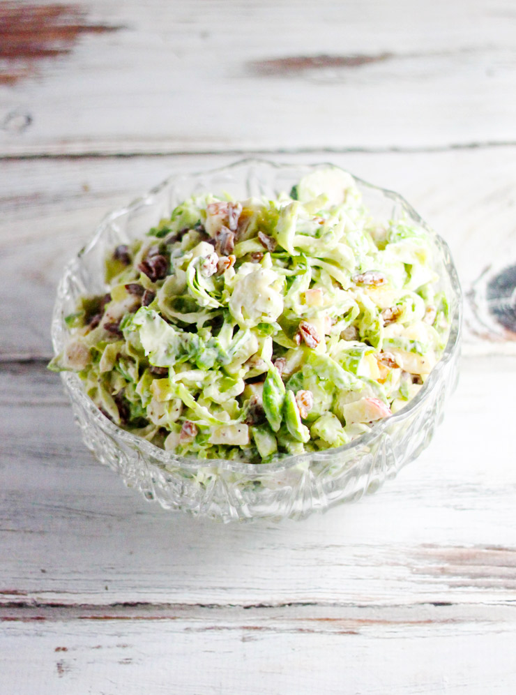 Brussels Sprouts and Apple Cole Slaw