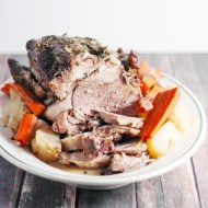 Parsley, Sage, Rosemary, and Thyme Pork Roast for Man Food Monday