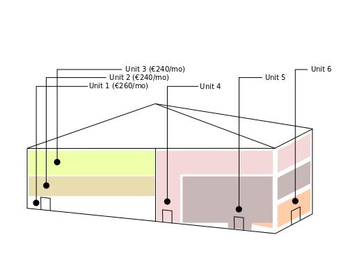 6 unit building