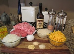 Cheddar Cheesy Meatloaf Ingredients