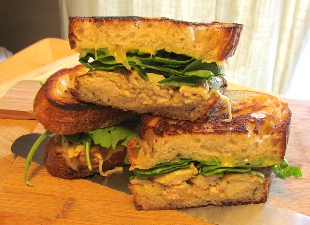 Grilled Honey Dijon Chicken Shallot Bread Sandwich