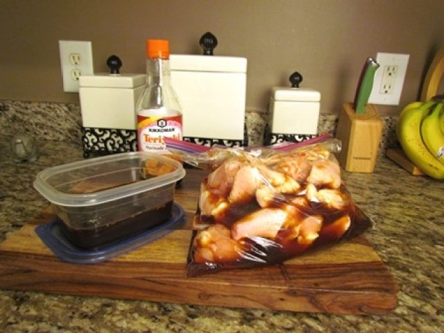 Pineapple Teriyaki Wings Marinated