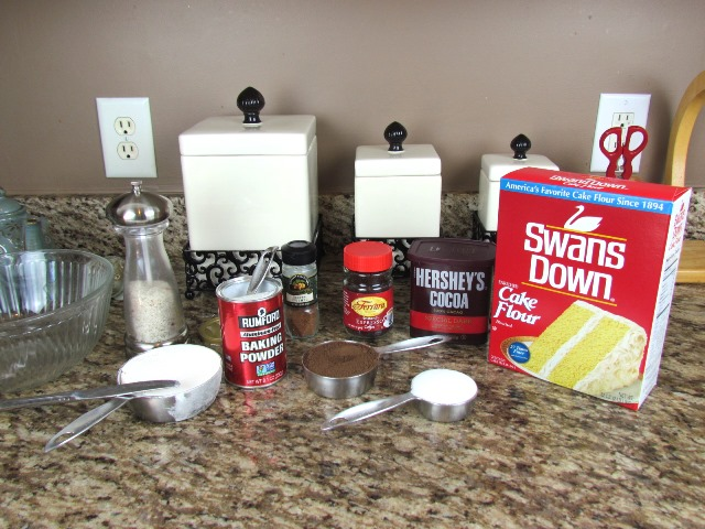 old fashioned chocolate donut ingredients