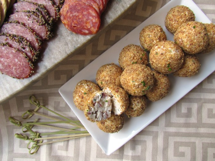 Goat Cheese Chive Bacon Balls