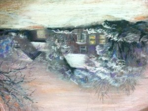 February Morning Pastel 9x12