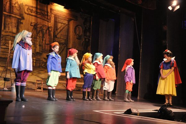 Snow White pantomine performed at Frome Memorial Theatre