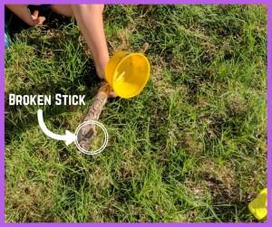 failed experiment-broken stick