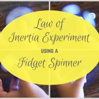 Law of Inertia Experiment using a Fidget Spinner!