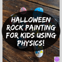 Halloween Rock Painting for Kids using Physics!