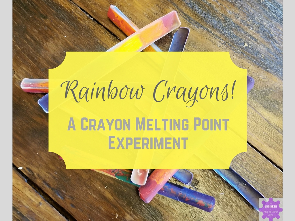 Rainbow Crayon - a Crayon Melting Point Experiment