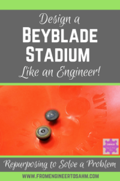 Homemade DIY Beyblade Stadium | Repurpose a seasonal toy as the perfect Beyblade Stadium!