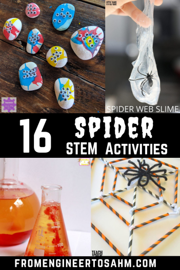 Get ready for Halloween with 16 Spider inspired STEM Activities! From slime to rock painting, making your own spider legs, your kids will surely be inspired!