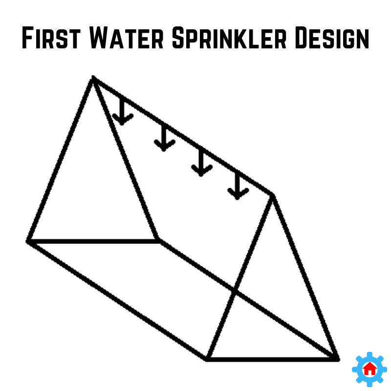 Our first sprinkler design using the engineering design process.
