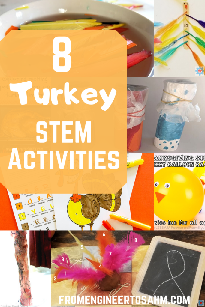Eight turkey STEM Activities for kids to do this Thanksgiving! From learning to code to science experiment, and all the fun in between!