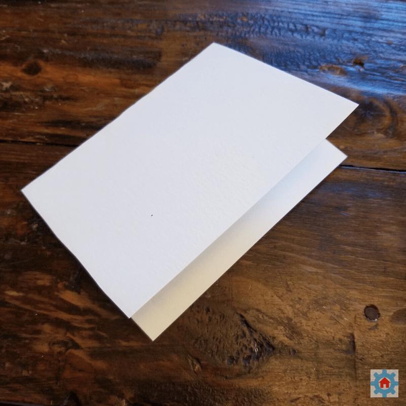 Making a card.