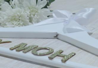 DIY Bridal Hangers