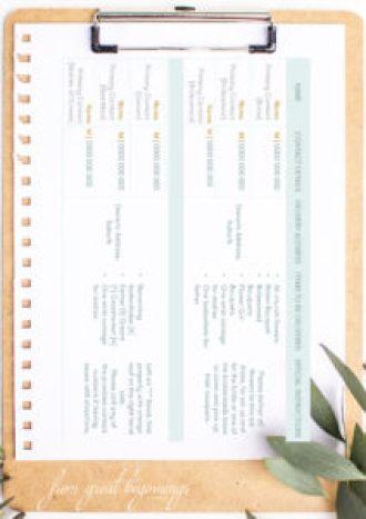 Printable Wedding Instructionals/Instructions