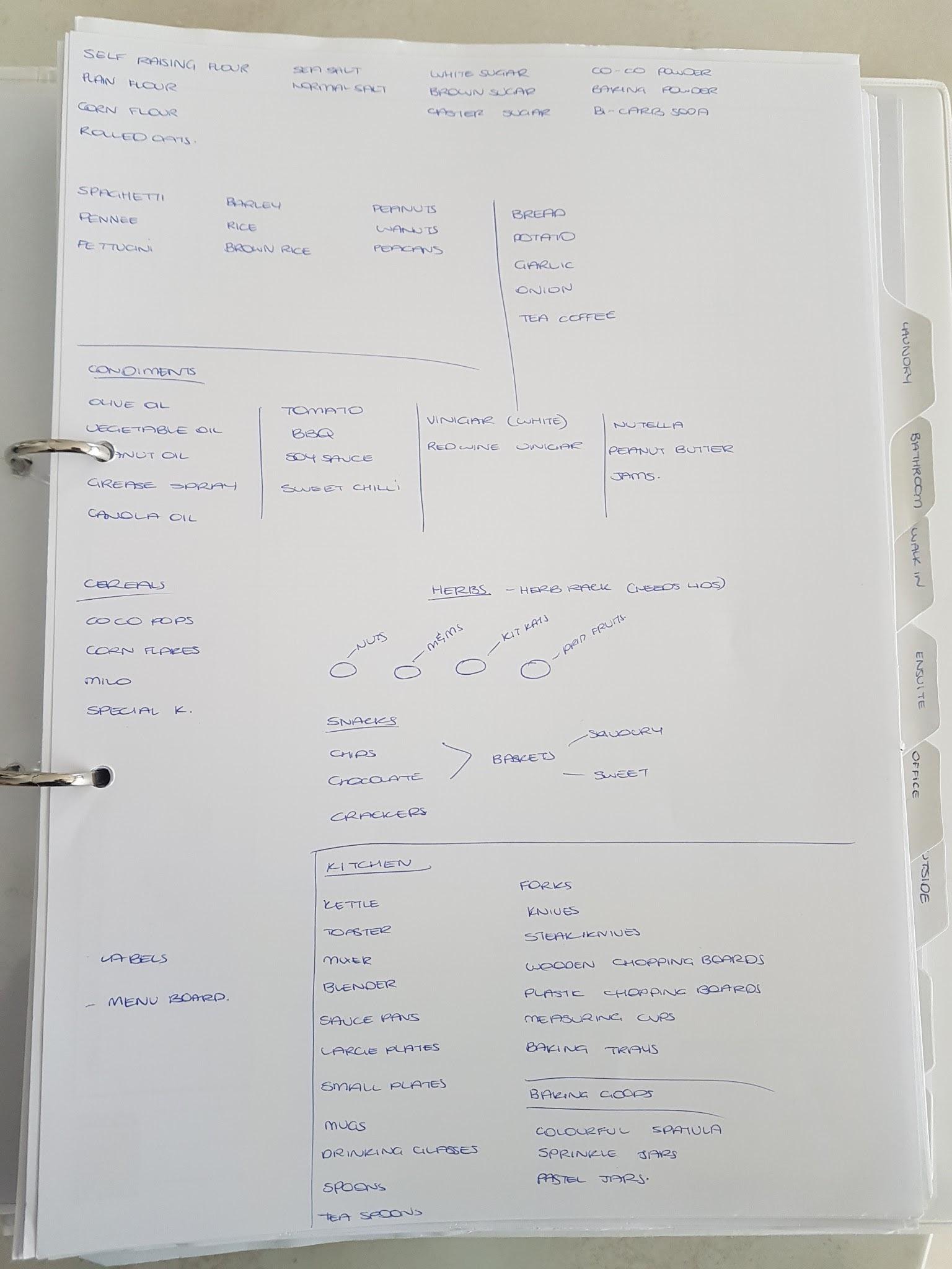 Draft Shopping List