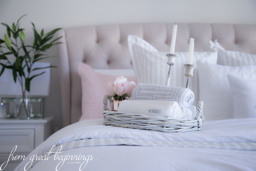 How I style my bed - www.fromgreatbeginnings.com
