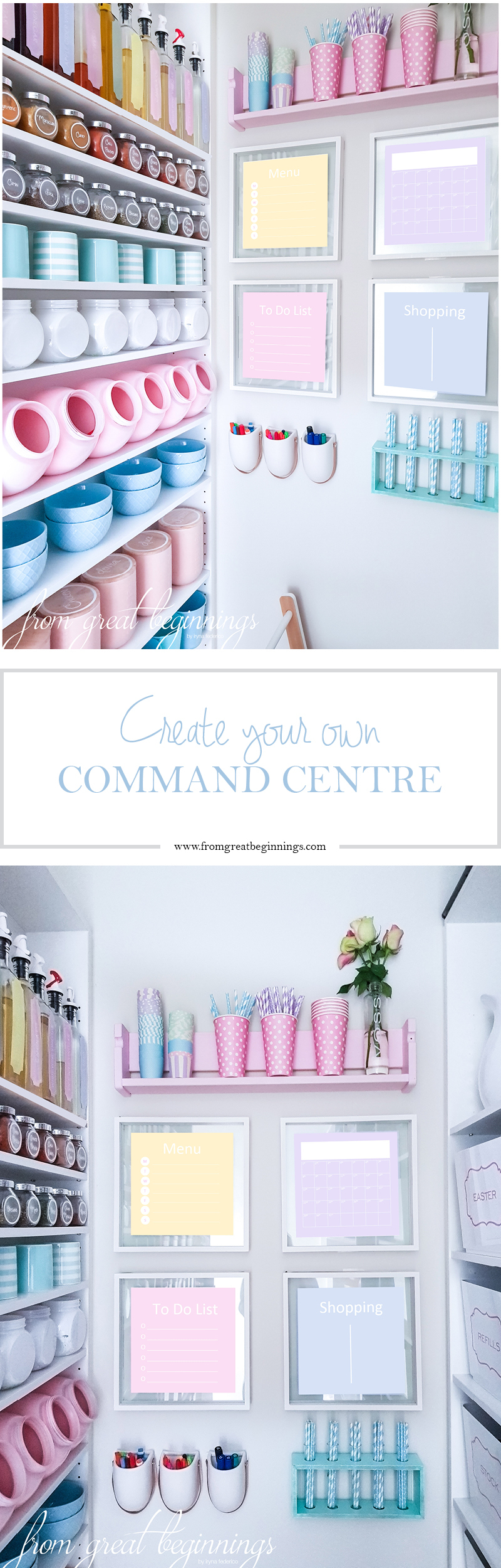 DIY Command Centre - www.fromgreatbeginnings.com