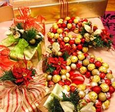 DIY Chocolate Christmas Wreath for under $50