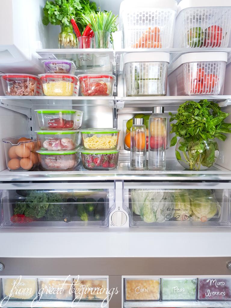 Freezer Organization - www.fromgreatbeginnings.com