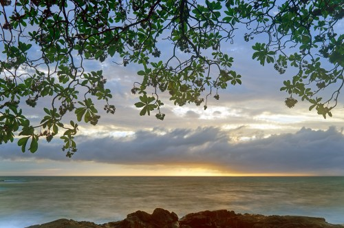 Image of a beautiful Kona sunset