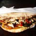 Stacked Grilled Vegetable Pita Wraps