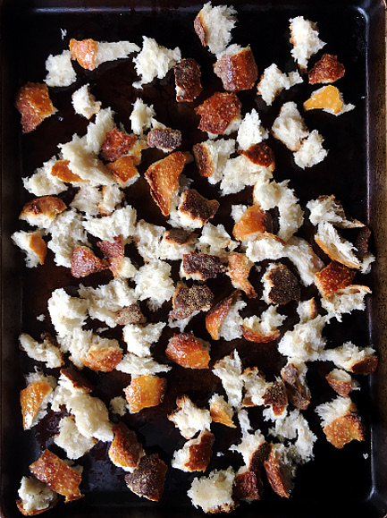 Sea Salt and Cracked Black Pepper Croutons