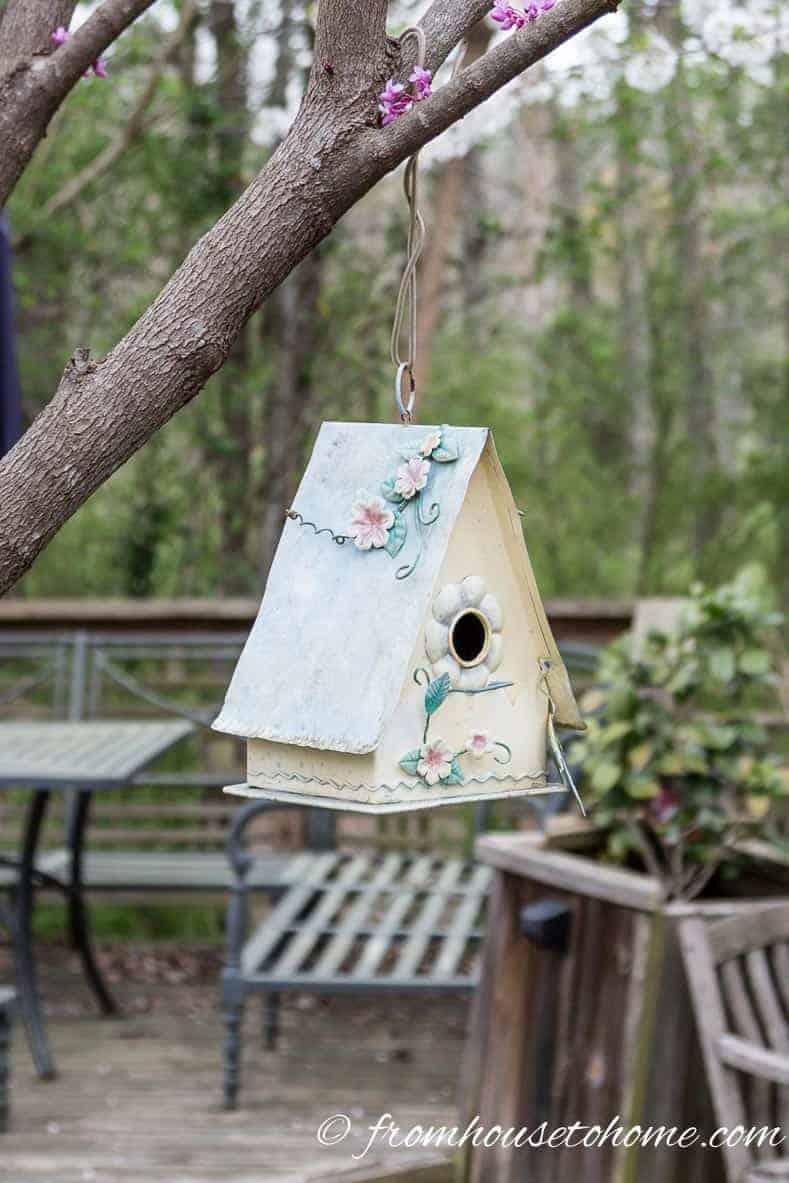 Bird House Yard Decorations