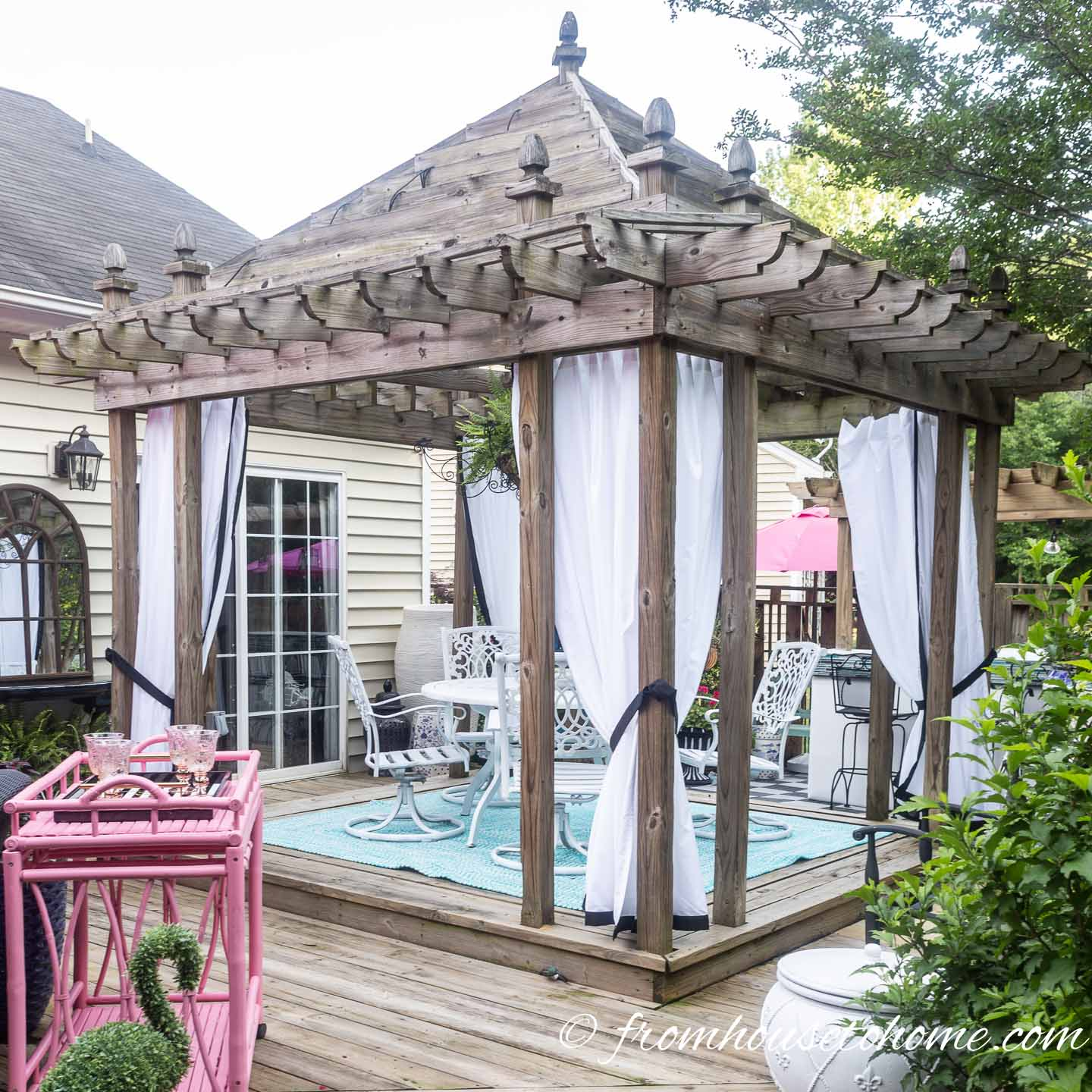 inexpensive diy outdoor curtains