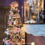 Pink And Gold Christmas Tree Decor On A Black Tree Plus 39 Bloggers Christmas Trees