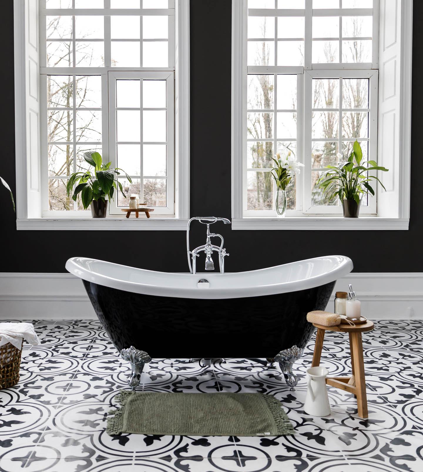 white bathroom floor tile ideas